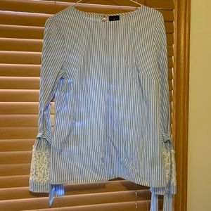 Adorable white and blue blouse